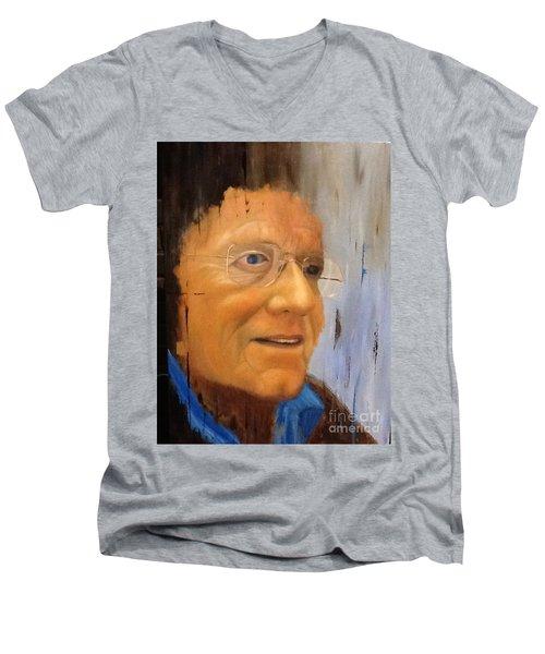 Robert Monk Self Portrait Men's V-Neck T-Shirt