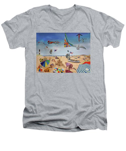 Robert Moses Beach Men's V-Neck T-Shirt