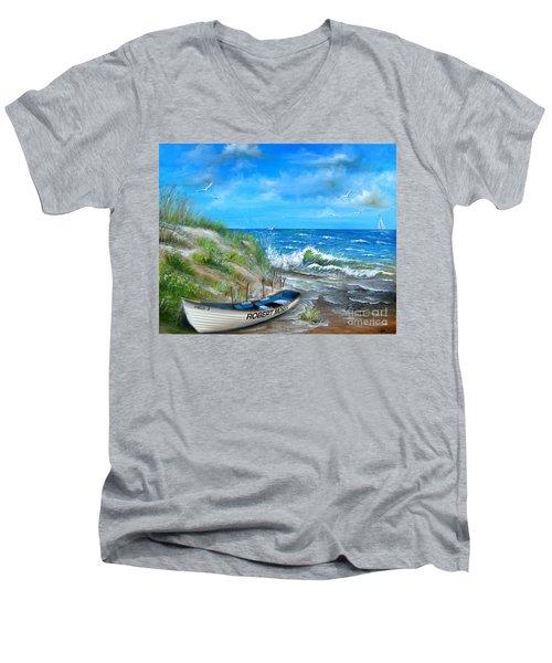 Robert Moses Beach Men's V-Neck T-Shirt