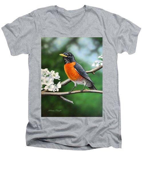 Robin Men's V-Neck T-Shirt