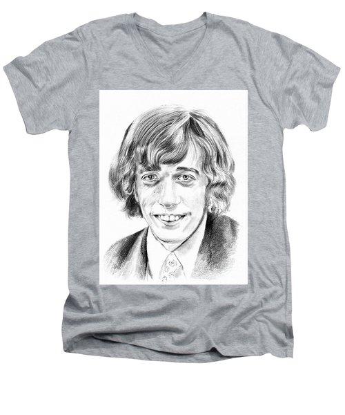Robin Gibb Drawing Men's V-Neck T-Shirt
