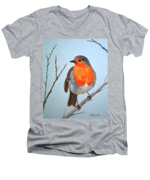 Robin In The Tree Men's V-Neck T-Shirt