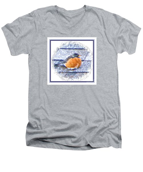 Robin Too Fat To Fly Men's V-Neck T-Shirt