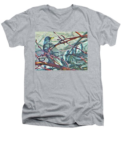 Robins Impression Of Spring Men's V-Neck T-Shirt