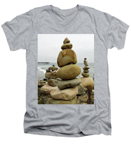 Rock Art Men's V-Neck T-Shirt by Joe  Palermo