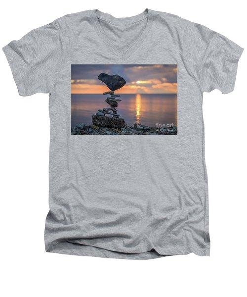 Rock Boarding Men's V-Neck T-Shirt
