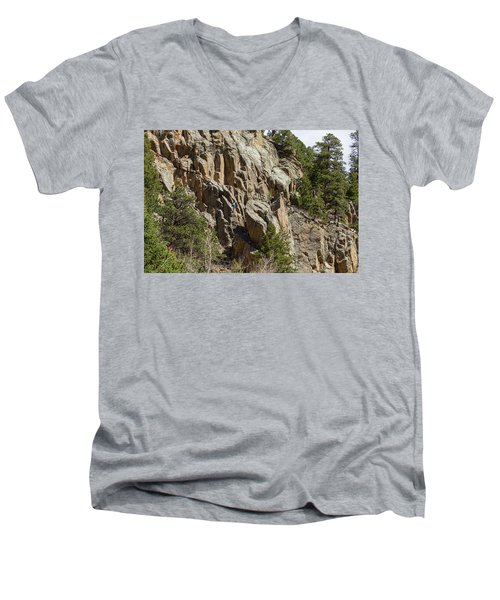 Men's V-Neck T-Shirt featuring the photograph Rock Climbers Paradise by James BO Insogna