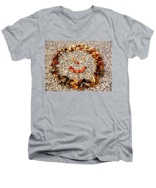Rock Face On Granite Men's V-Neck T-Shirt