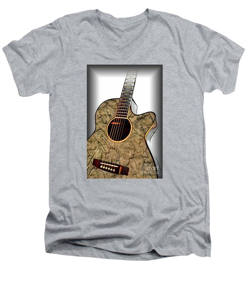 Rock Guitar 1 Men's V-Neck T-Shirt