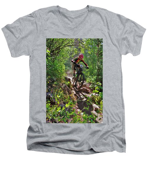 Rock Hopping #30 Men's V-Neck T-Shirt