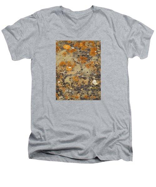 Rock Pattern Men's V-Neck T-Shirt
