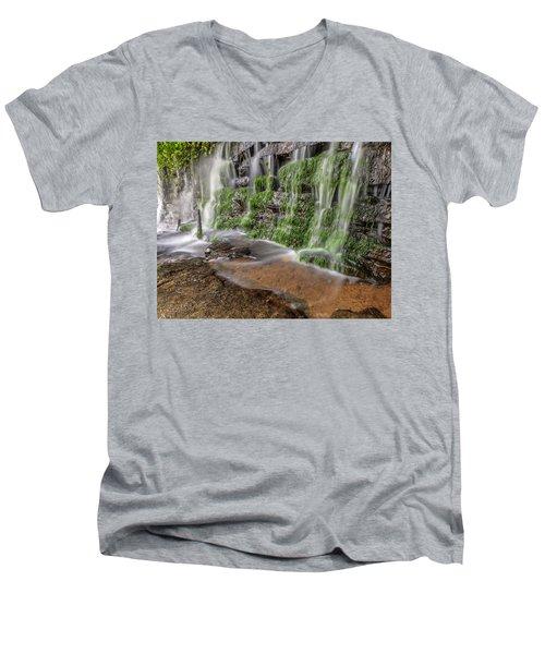 Rock Wall Waterfall Men's V-Neck T-Shirt
