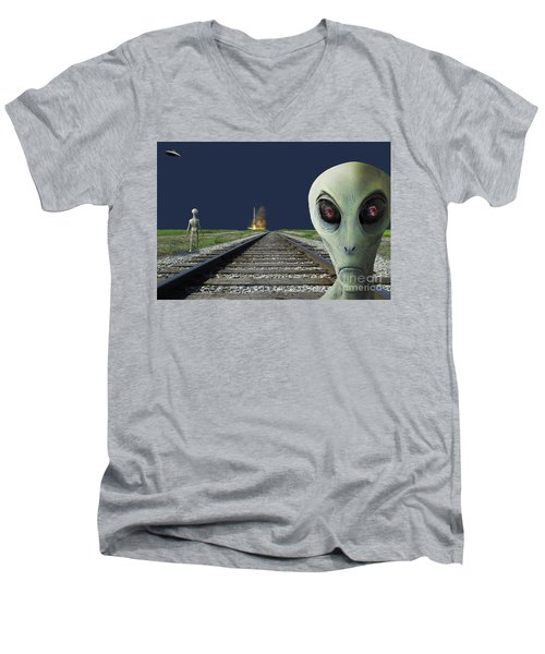Rocket Launch Men's V-Neck T-Shirt