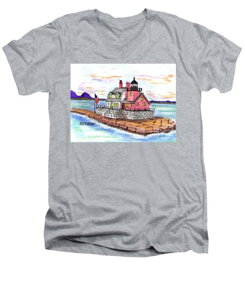 Rockland Breakwater Light Men's V-Neck T-Shirt by Paul Meinerth