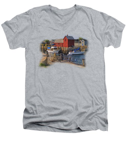 Rockport Waterfront Men's V-Neck T-Shirt