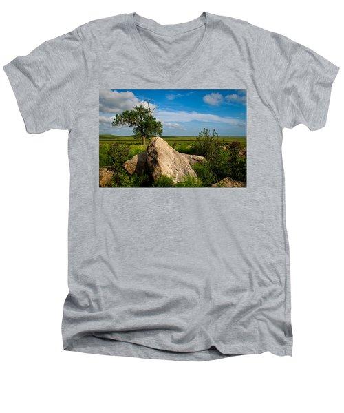 Rocks And Cottonwood 2 Men's V-Neck T-Shirt