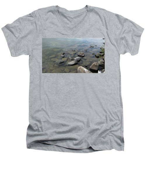 Rocks And Water Too Men's V-Neck T-Shirt