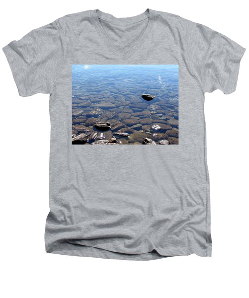 Rocks In Calm Waters Men's V-Neck T-Shirt