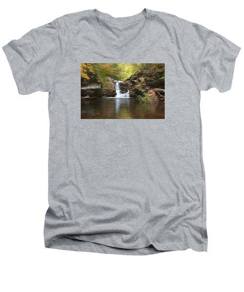 Rocktober Men's V-Neck T-Shirt by Gene Walls