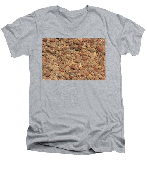 Men's V-Neck T-Shirt featuring the photograph Rocky Beach 4 by Nicola Nobile