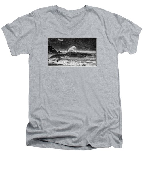 Rocky Coast Men's V-Neck T-Shirt