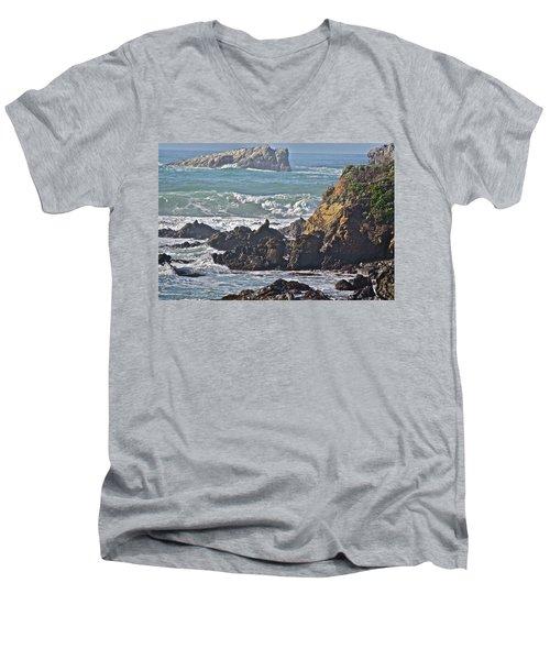 Rocky Coast Men's V-Neck T-Shirt