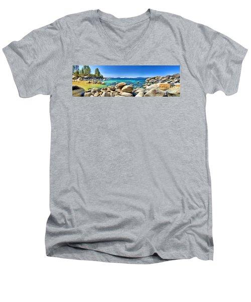 Rocky Cove Sand Harbor Men's V-Neck T-Shirt