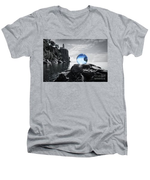 Rocky Crystal Men's V-Neck T-Shirt