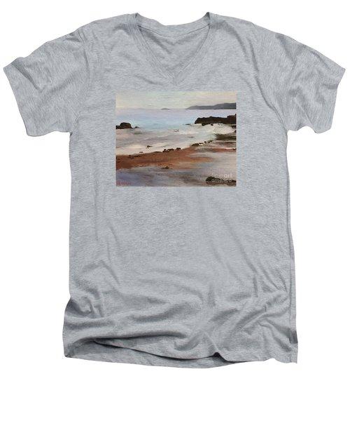 Rocky Neck Beach Men's V-Neck T-Shirt