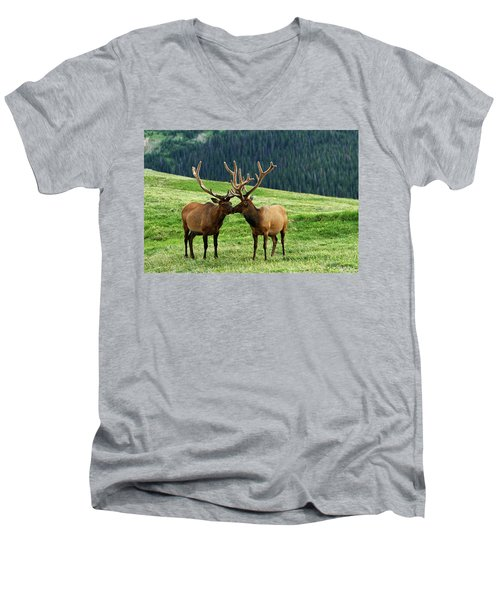 Rocky Mountain Elk 2 Men's V-Neck T-Shirt