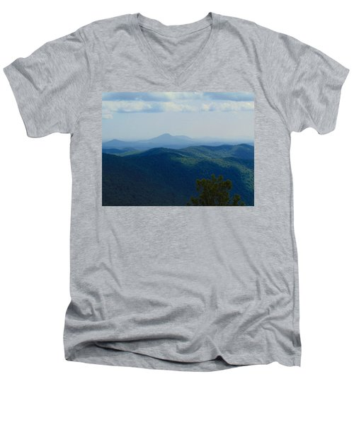 Rocky Mountain Overlook On The At Men's V-Neck T-Shirt