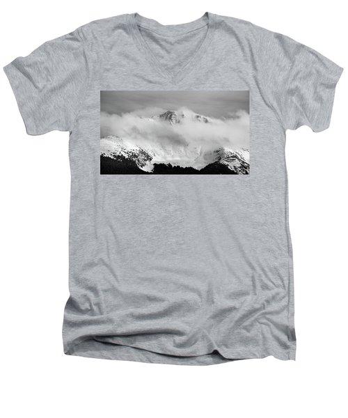 Rocky Mountain Snowy Peak Men's V-Neck T-Shirt
