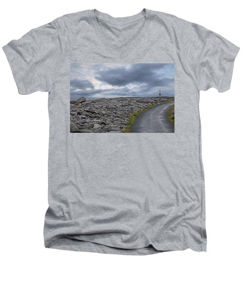 Rocky Road To The Lighthouse Men's V-Neck T-Shirt