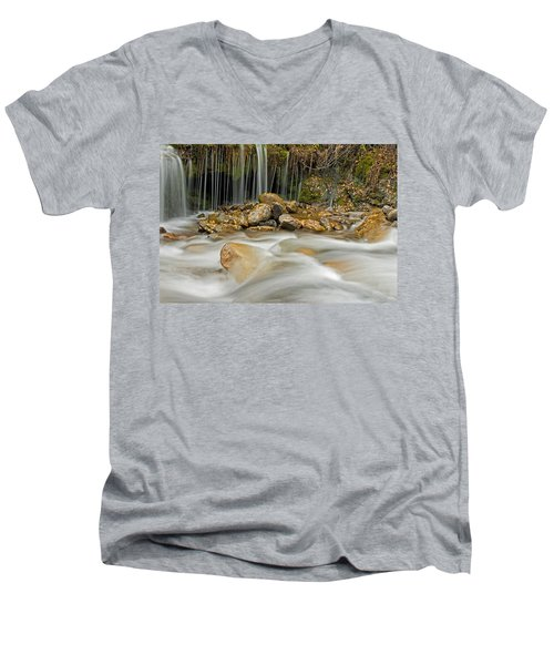 Rocky Stream Men's V-Neck T-Shirt