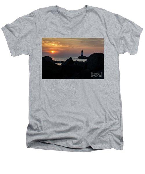 Rocky Sunrise Men's V-Neck T-Shirt