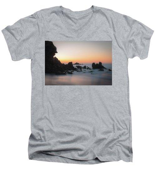 Rocky Sunrise Men's V-Neck T-Shirt by Ralph Vazquez