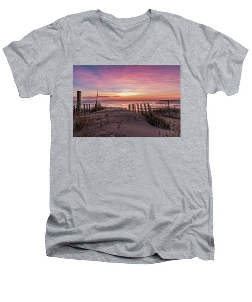 Rodanthe Sunrise Men's V-Neck T-Shirt