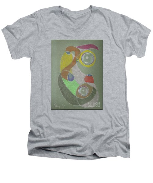 Roley Poley Vertical Men's V-Neck T-Shirt