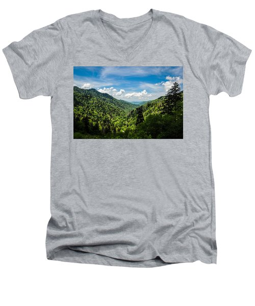Rolling Mountains Men's V-Neck T-Shirt
