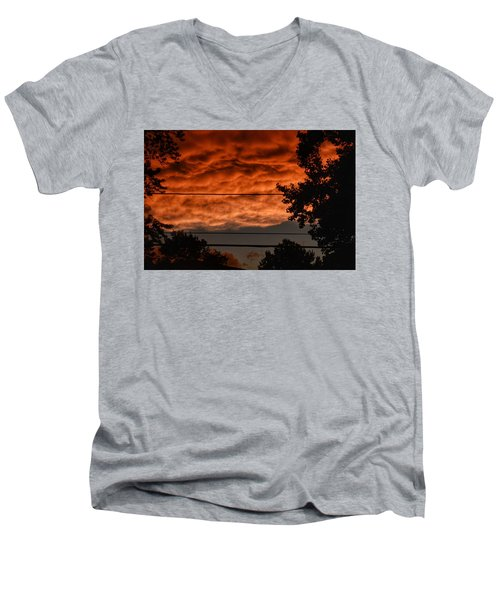 Men's V-Neck T-Shirt featuring the photograph Rolling Skies by Nikki McInnes