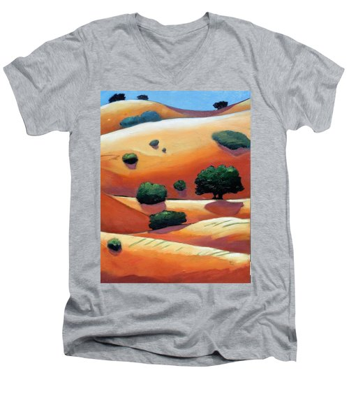 Rolling Trip Panel IIi Men's V-Neck T-Shirt by Gary Coleman