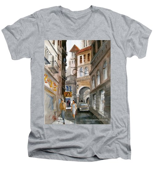 Roma 01 Men's V-Neck T-Shirt