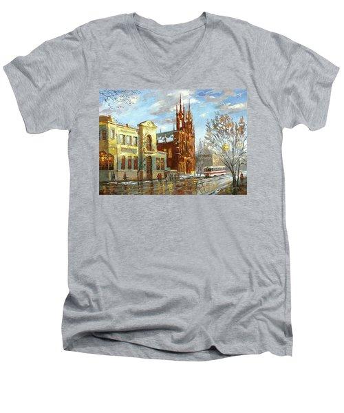 Roman Catholic Church Men's V-Neck T-Shirt by Dmitry Spiros