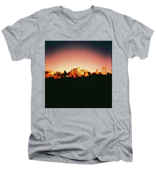 Roman Imperial Forum Men's V-Neck T-Shirt