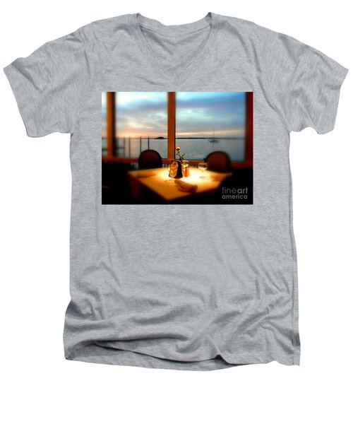 Men's V-Neck T-Shirt featuring the photograph Romance by Elfriede Fulda
