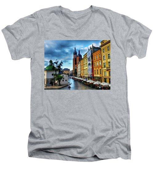 Romance In Krakow Men's V-Neck T-Shirt