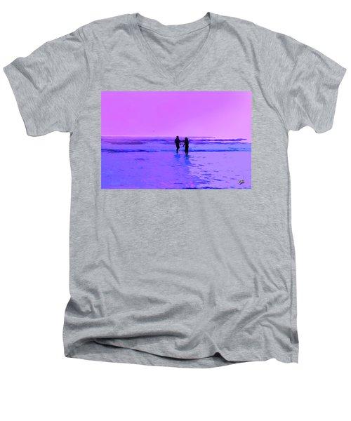 Romance On The Beach Men's V-Neck T-Shirt