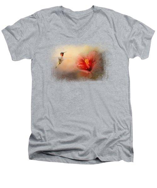Romancing The Hibiscus Men's V-Neck T-Shirt