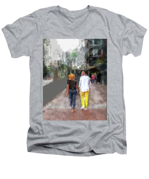 Romantic Couple Men's V-Neck T-Shirt