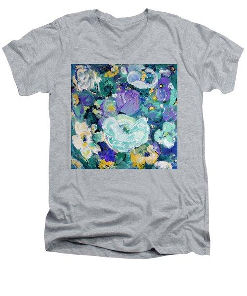 Romantic Rose Garden Men's V-Neck T-Shirt